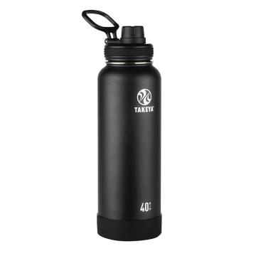 Takeya Stainless Steel Drink Bottle - 1.2L - Onyx Black