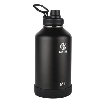 Takeya Stainless Steel Drink Bottle - 1.9L - Onyx Black
