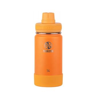 Takeya Stainless Steel Drink Bottle - Tangerine 414ml - Tangerine