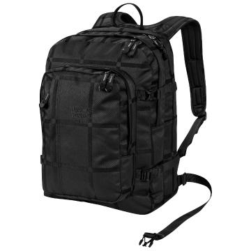 Jack Wolfskin Berkeley Yarn Dye Backpack - Black Big Check