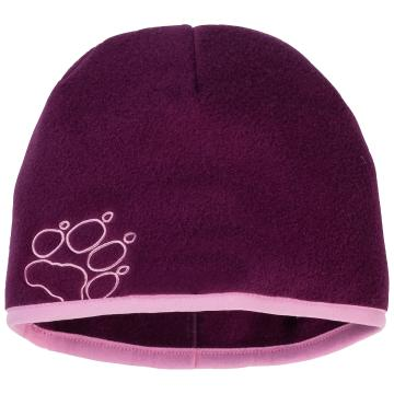 Jack Wolfskin Youth Baksmalla Fleece Beanie - Dark Orchid