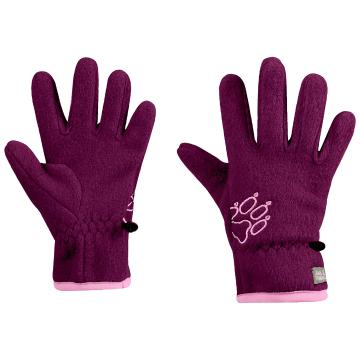 Jack Wolfskin Youth Baksmalla Fleece Glove - Dark Orchid
