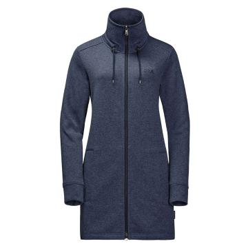Jack Wolfskin Women's Finley Long Jacket - Midnight Blue