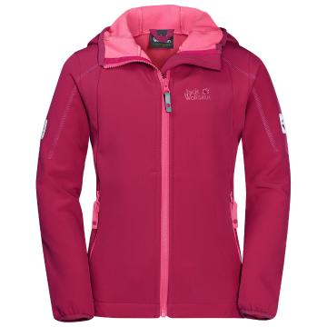 Jack Wolfskin Girls Whirlwind Jacket - Azalea Red