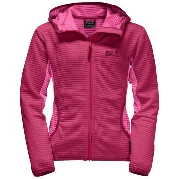 Jack Wolfskin Girl's Tongari Jacket - Azalea Red