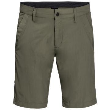 Jack Wolfskin Mens Desert Valley Shorts - Woodland Green