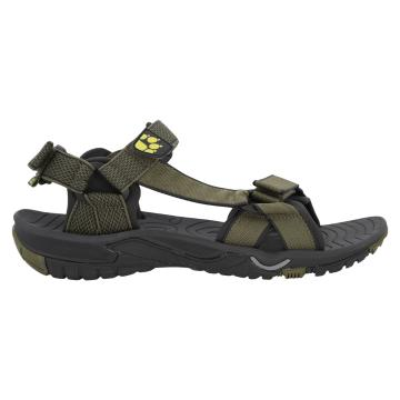 Jack Wolfskin Men's Lakewood Ride Sandals - Flashing Green