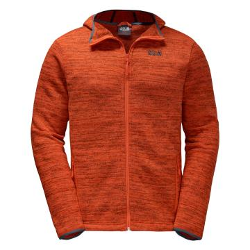 Jack Wolfskin Men's Aquila Hooded Jacket - Mango Orange