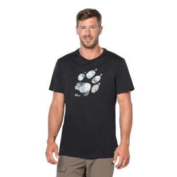 Jack Wolfskin Mens Marble Paw Tee