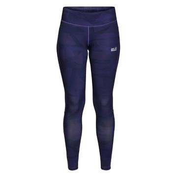 Jack Wolfskin Women's Grid Tights - Dark Violet