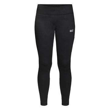 Jack Wolfskin Women's Athletic Winter Tights - Black