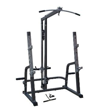 Iron Power Deluxe Squat Rack w/Lat/Row