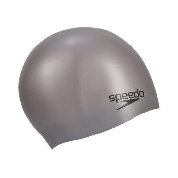 Speedo Plain Moulded Silicone Cap - Chrome