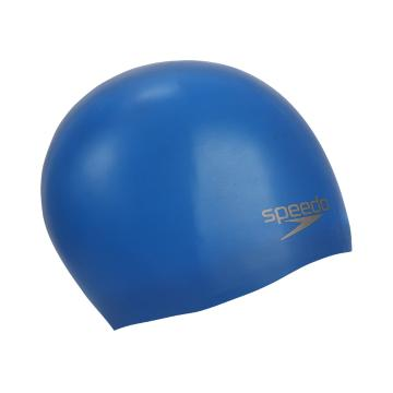 Speedo Plain Moulded Silicone Cap - Neon Blue