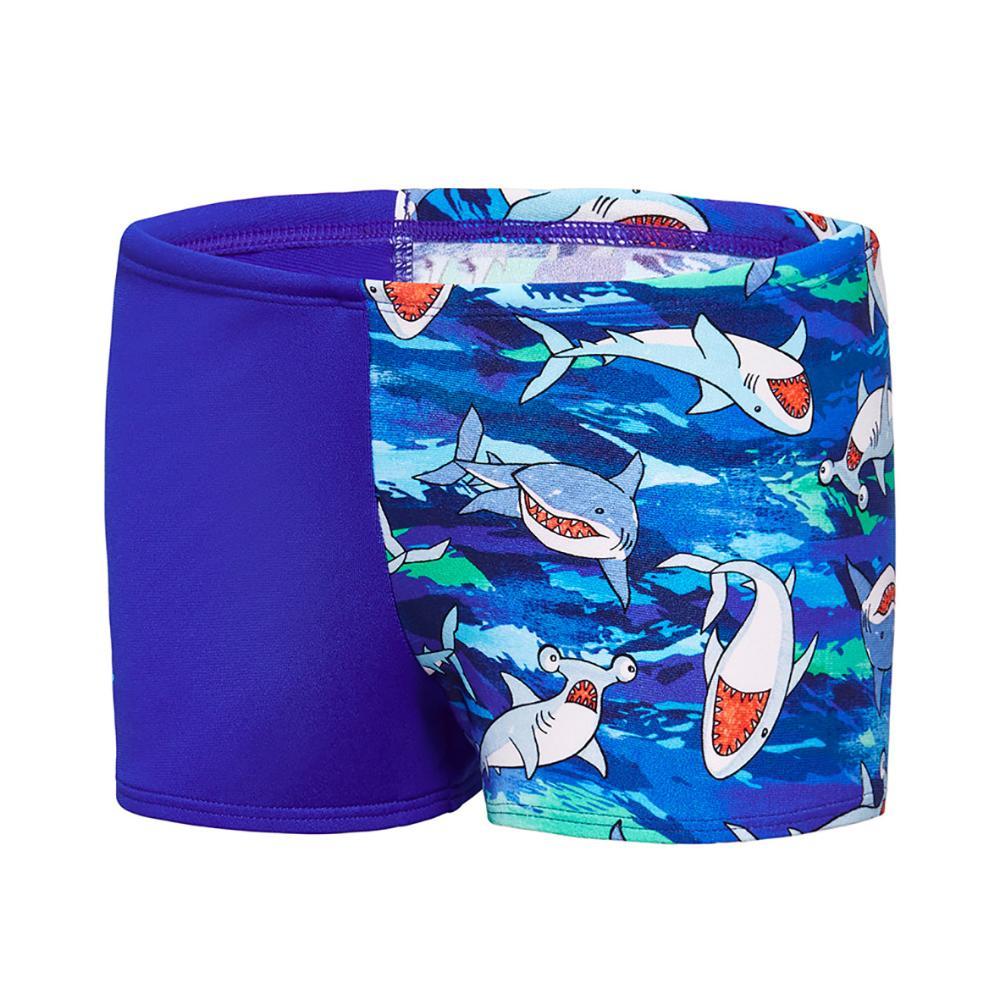 Toddler Boys Camo Shark Aquashort