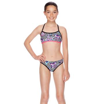 Speedo Girls Optical Star Strap Back Two Piece