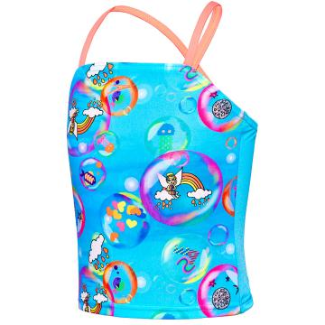 Speedo Toddler Girl's Bubble World CrossBk - BubbleWrld
