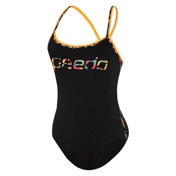 Speedo Women's Sierra One Piece Swimsuit - Black/Ash Gum