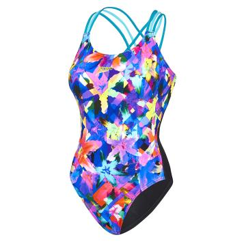 Speedo Womens Lily Triple Crossback One Piece - Lily/Eucalyptus/Spa