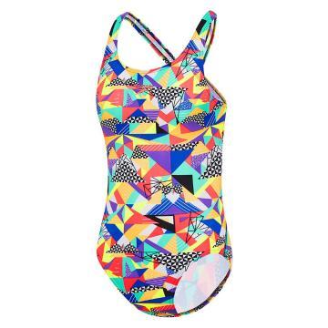 Speedo Girl's Hosier Leaderback One Piece Swimsuit