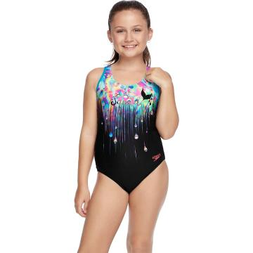 Speedo Girls' Powerstrike One Piece - Multi