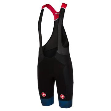 Castelli 18 Men's Free Aero Race Bibshorts - Black/Dark Infinity Blue