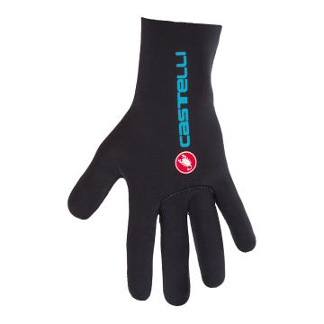 Castelli 2018 Diluvio C Gloves - Black/Sky Blue