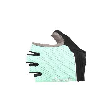 Castelli 2018 Roubaix Gel Women's Short Finger Gloves - Pastel Mint/Forest Grey