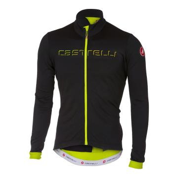 Castelli 2018 Fondo Jersey - Front Zip - Light Black/Yellow Fluo