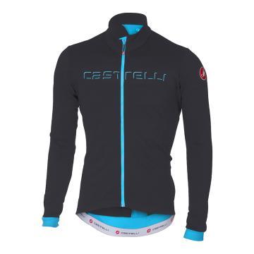 Castelli 2018 Fondo Jersey - Front Zip - Anthracite/Sky Blue