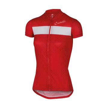 Castelli Sentimento Front Zip Cycle Jersey - Red