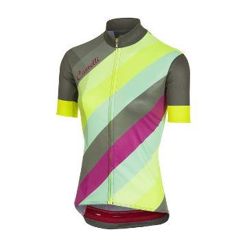 Castelli 2018 Prisma Women's Multi Jersey - Black/Forest Grey