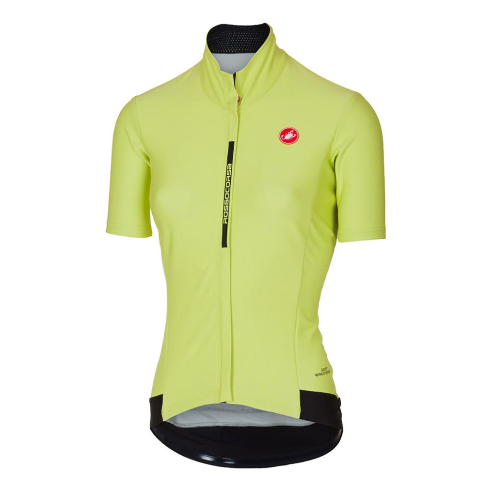 Large Castelli Fortuna Women/'s Short Sleeve Cycling Jersey L Black//Lime