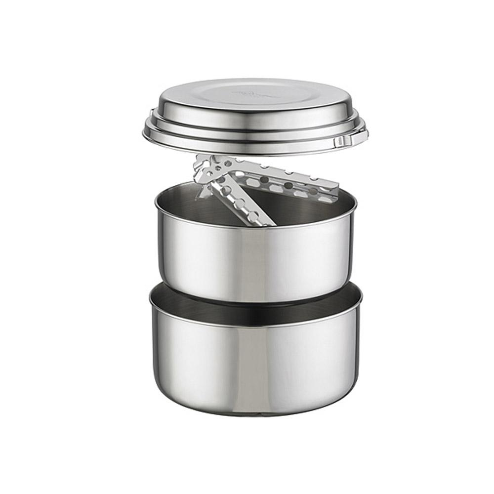 Alpine 2 Person Stainless Steel Pot Set