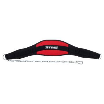 Sting 7 inch Neo Dip Belt Black - Black/Red