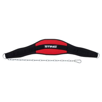 Sting 7 inch Neo Dip Belt Black - Black/Red