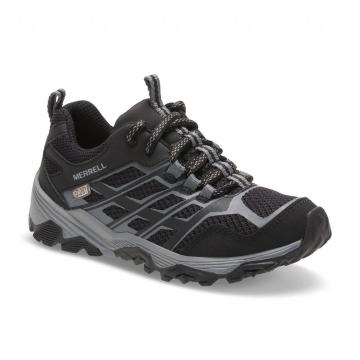 Merrell Youth Moab Fst Low Waterproof - Black/Black