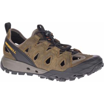 Merrell Men's Choprock Leather Shandal - Cloudy/Gold