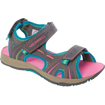 Merrell Youth Panther Sandals - Grey/Turquoise