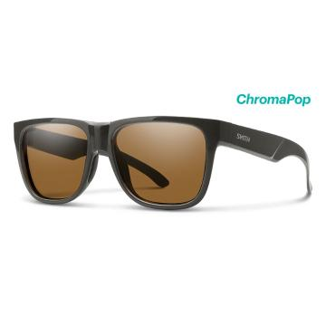 Smith Lowdown 2 CP Polarized Sunglasses - Charcoal CP PolarizedBrown