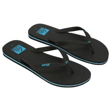 Reef Men's Trinidad Logos Jandals - Black/Blue