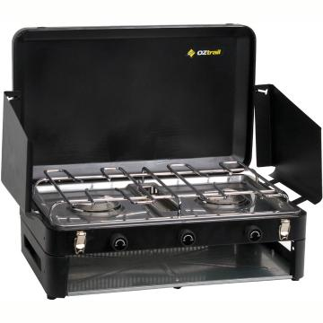 OZtrail Double Burner and Grill - Low Pressure