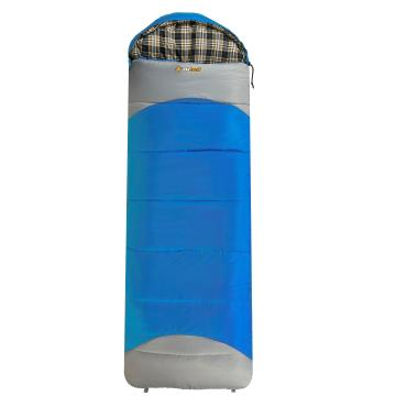 OZtrail Lakeview Hooded Synthetic Sleeping Bag - Blue/Gry