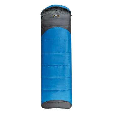 OZtrail Leichardt Hooded Sleeping Bag - Blue/Gry