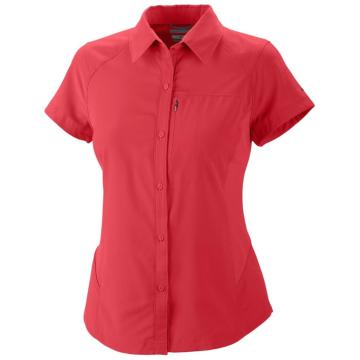 Columbia 2015 Women's Silver Ridge Short Sleeve Shirt - Red Hibiscus