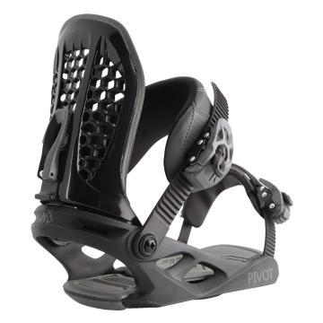 M3 Men's Pivot Snowboard Bindings - Black