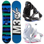 M3 2017 Junior Snowboard and Binding Package
