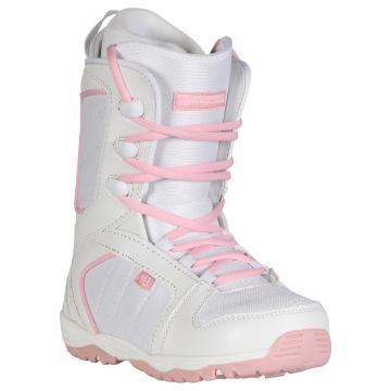 M3 Girl's Venus Junior Snowboard Boots - White/Pink