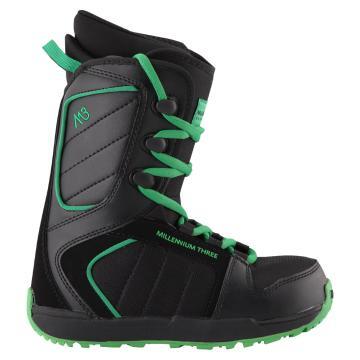 M3 Junior Militia Snowboard Boots - Black/Green