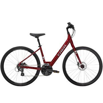 Trek 2022 Verve 2 Disc Lowstep Urban Bike - Rage Red